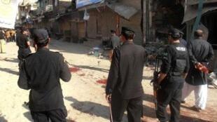 Marcas do violento ataque dos talibãs à cadeia de Ghazni