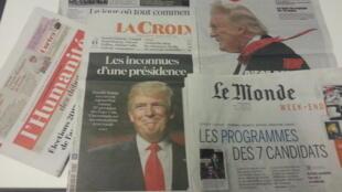 Primeiras páginas dos jornais franceses de 20 de janeiro de 2017