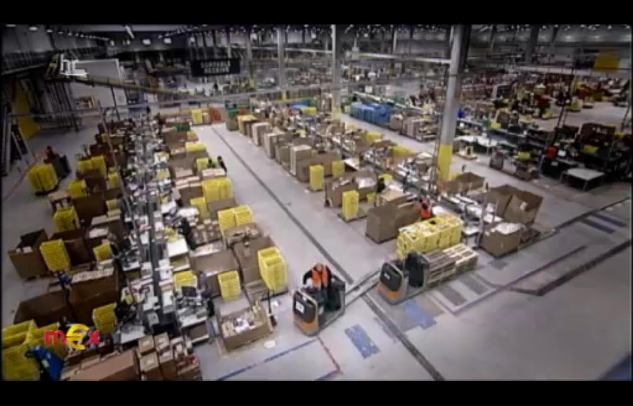Centre logistique d'Amazon - Extrait du reportage sur Amazon diffusé le 13 février sur la chaîne ARD