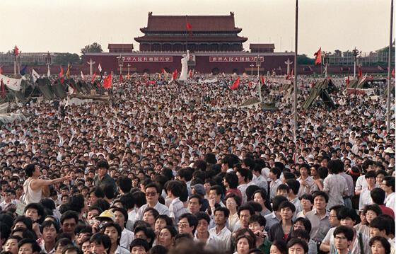 Quảng trường Thiên An Môn mùa xuân 1989.