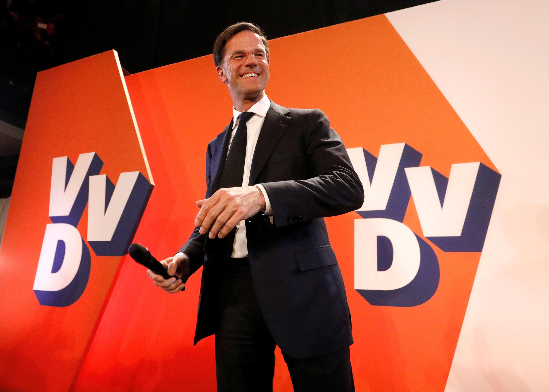 Thủ tướng Hà Lan Mark Rutte, tại La Haye, tối 15/03/2017