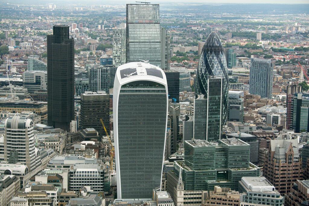 Le principal quartier d'affaires de Londres, la City (Royaume-Uni, juin 2016).