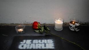 Cinquième anniversaire de l'attentat contre le journal satirique «Charlie Hebdo» à Paris.