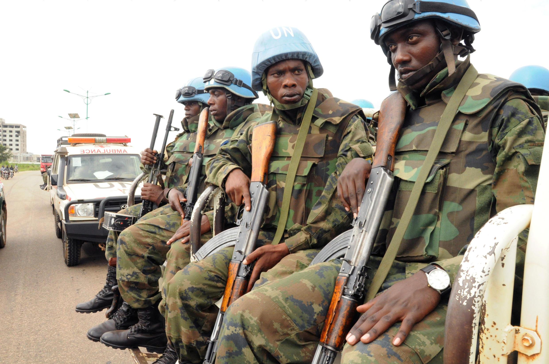 Des casques bleus de la Minuss à Juba, le 31 août 2016.