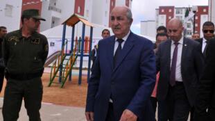 Le nouveau Premier ministre algérien Abdelmadjid Tebboune avant sa nomination le 3 avril 2017 à Alger