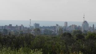 Vue de la ville de San Luis, en Argentine.