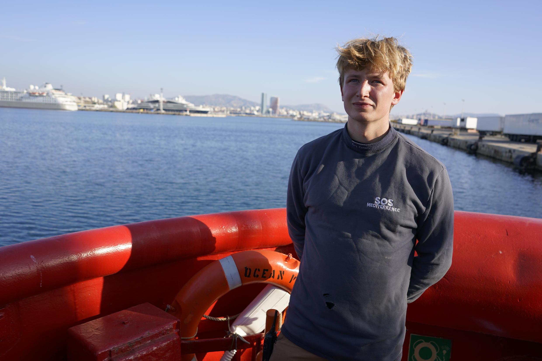 A 24 ans, Leo est le plus jeune membre de l'équipage actuellement à bord de l'Ocean Viking. Mais il entame là sa sixième mission de sauvetage.