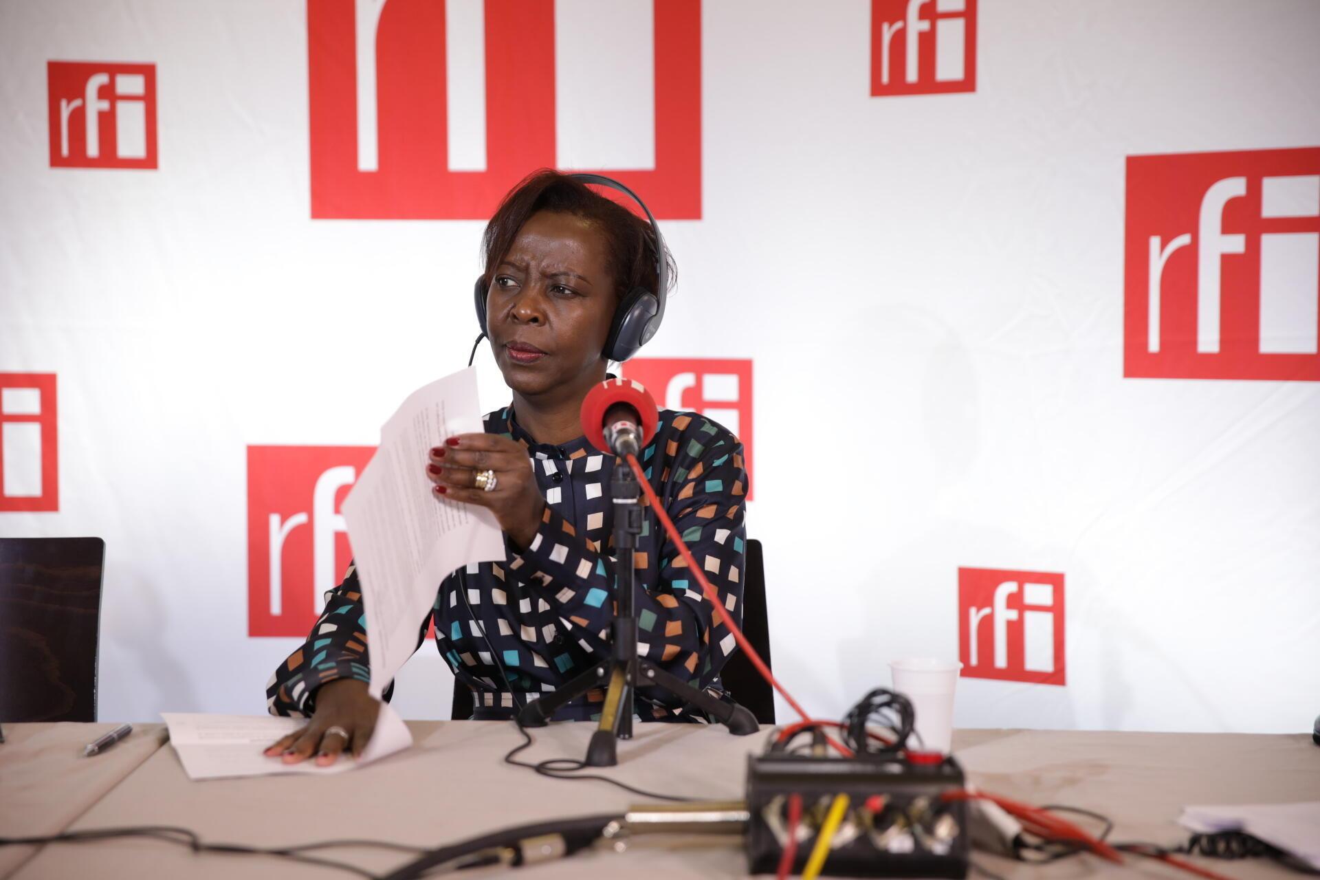 Louise Mushikiwabo lors de l'édition spéciale de RFI.