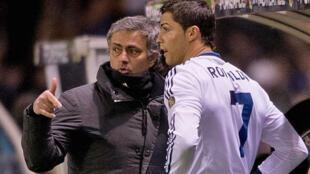 Cristiano Ronaldo &  Jose Mourinho - عکس آرشیو