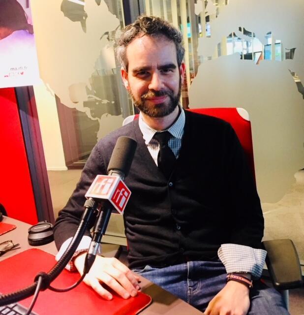 L'écrivain français Benjamin Fogel en studio à RFI (mai 2019).