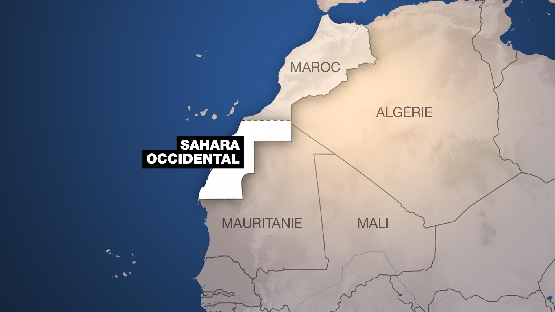 存檔圖片:西撒哈拉及其相鄰國家 Image d'archive: Le Sahara occidental et ses voisins.
