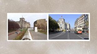 Le Parlement allemand avant et après la chute du Mur de Berlin.