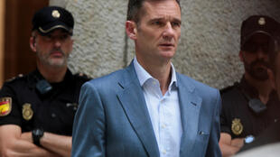Iñaki Urdangarin, à la sortie de la cour après s'être vu notifié de sa peine de prison. Majorque, le 13 juin 2018.