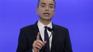 Jean-François Copé lors de sa «déclaration solennelle», lundi 3 mars à Paris.