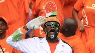 Supporters de la Côte d'Ivoire à la CAN 2017.