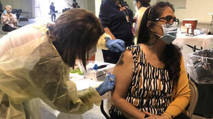 Vaccination au Texas, États-Unis, le 25 janvier 2021.