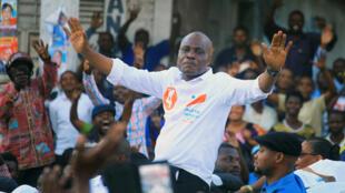 Le candidat Martin Fayulu à Goma, le 6 décembre 2018.