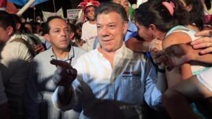 Las protestas eran una amenaza para la imagen de Juan Manuel Santos a poco tiempo de los comicios en los que buscará su reelección.