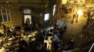 Отдел милиции после разгрома во Львове 19/02/2014
