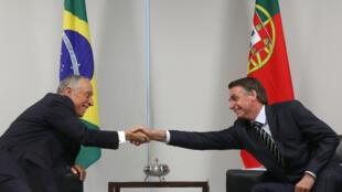 Presidente português Marcelo Rebelo de Sousa visita Presidente brasileiro, Jair Bolsonaro