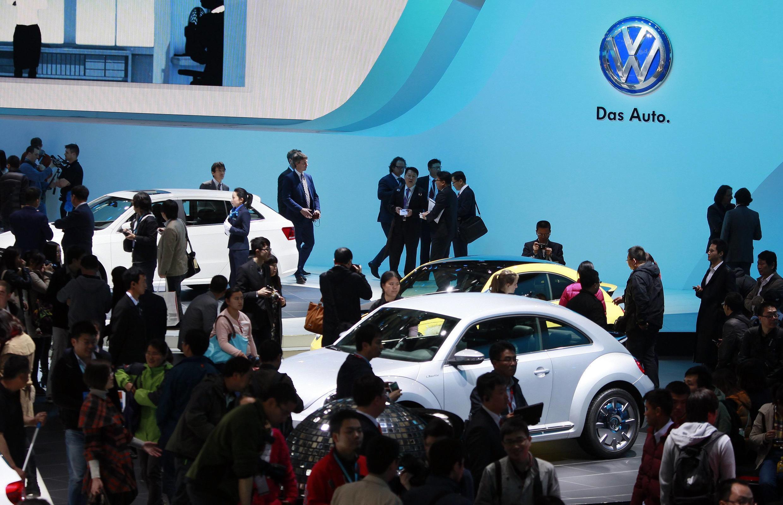 Hội chợ triển lãm xe hơi tháng 04/2013 tại Thượng Hải . Các tập đoàn xe hơi Đức nằm trong số 29% doanh nghiệp châu Âu lạc quan.