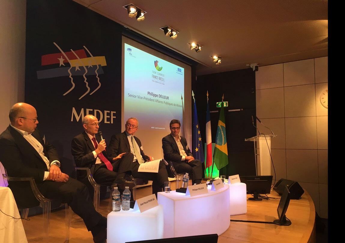 Paris sediou nesta segunda-feira (21) o quarto Fórum Econômico Brasil-França. O evento, realizado na sede da organização patronal Medef