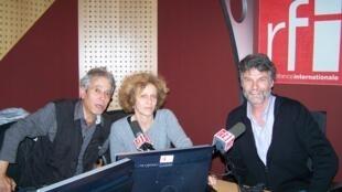 Peter Lowry en compagnie de Jean-Yves Casgha et Caroline Lachowsky