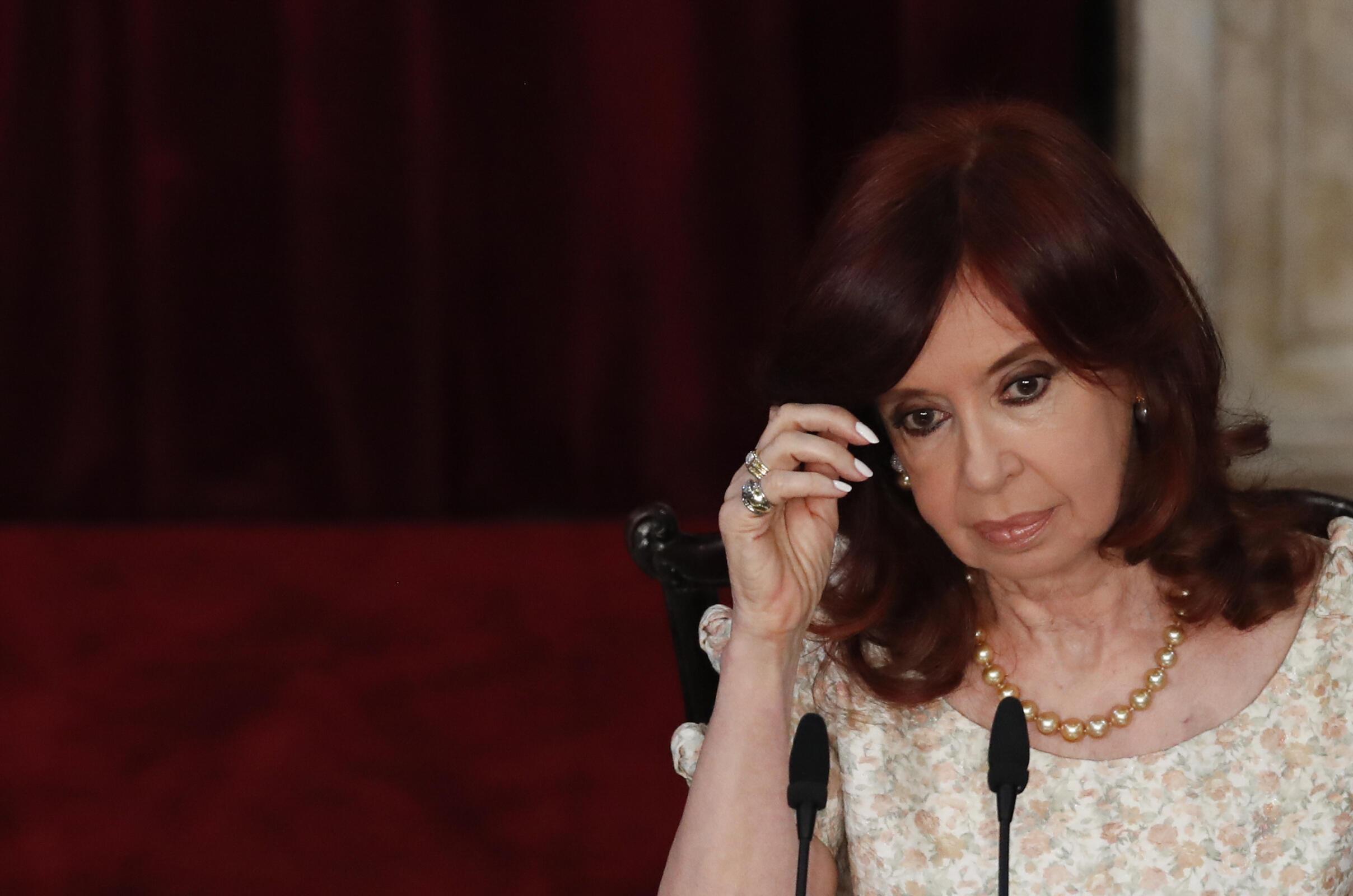 La vicepresidenta argentina, Cristina Kirchner, el 1 de marzo de 2021 en Buenos Aires
