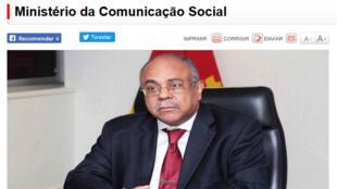 Joao Melo, ministro angolano da Comunicação Social