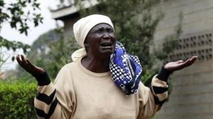 Mary Italo, mère de Thomas Italo, l'une des victimes de l'assaut des shebabs sur le centre commercial Westgate, à Nairobi.