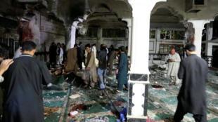 阿富汗第二大城清真寺遭遇自杀式恐袭现场,2017年8月1日