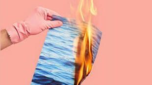 Affiche de l'exposition consacrée au feu, à la Cité des Sciences à Paris