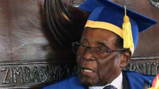 Robert Mugabe em Harare, no Zimbabué. 17 de Novembro de 2017.