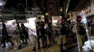 Cảnh sát chống bạo động Hồng Kông, ngày 21/10/2019. Ảnh mình họa.
