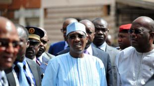 Le président tchadien Idriss Déby Itno, à Ouagadougou, le 21 janvier 2016.