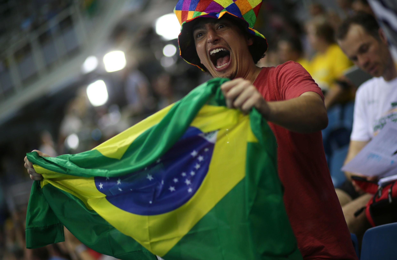 Torcedor brasileiro na Rio 2016.