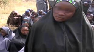 Caputre d'écran de la vidéo de Boko Haram transmise à l'AFP.