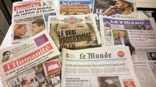 Diários franceses 10/12/2015