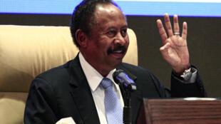 Le Premier ministre, Abdalla Hamdok, a dévoilé son gouvernement lors d'une conférence de presse à Khartoum, le 5 septembre 2019.