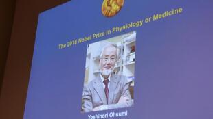 O biólogo japonês Yoshinori Ohsumi vence Nobel de Medicina 2016.