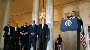 Tổng thống Mỹ Barack Obama và các đồng nhiệm Iceland, Đan Mạch, Na Uy, Thụy Điển và Phần Lan, ngày 13/05/2016, tại Nhà Trắng.