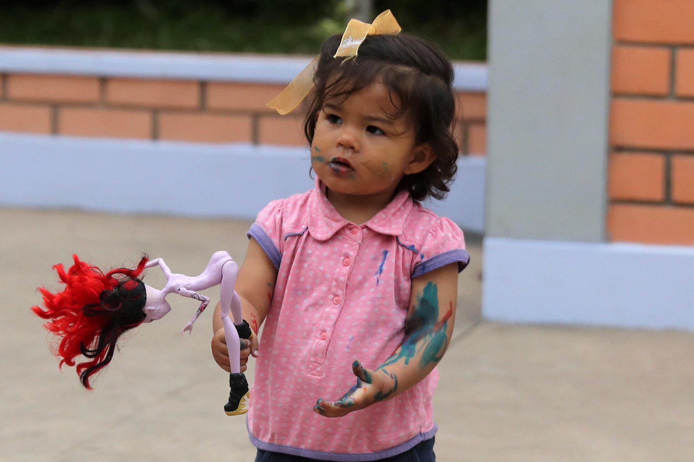 Una niña venezolana en Lima, Perú, el 24 de septiembre de 2018.