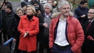 Valérie Pécresse (g.) et Laurent Wauquiez, le 31 janvier 2018.