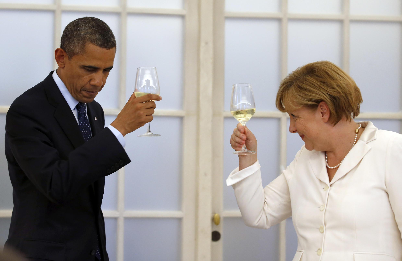 A chanceler alemã, Angela Merkel, e o presidente norte-americano, Barack Obama, em imagem de arquivo; as relações entre os dois países estão estremecidas desde as revelações sobre a espionagem norte-americana.