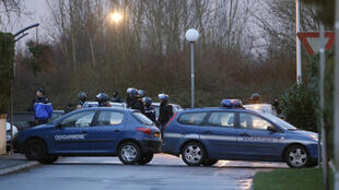 French police in Dammartin-en-Goële northeast of Paris shortly before the assault.