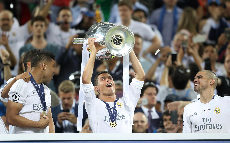 Cristiano Ronaldo, avançado do Real Madrid, levantou quatro vezes a Liga dos Campeões na carreira.