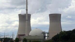 La centrale nucléaire de Grafenrheinfeld, définitivement arrêtée depuis le 28 juin 2015.