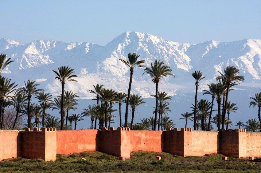 L'Atlas vu de Marrakech.