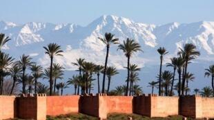 Le Maroc attire le cinéma et en particulier les productions étrangères (Photo: l'Atlas vu de Marrakech).
