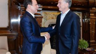 Doria com presidente Macri na Casa Rosada.